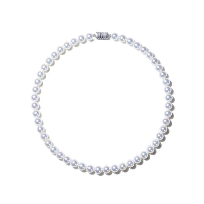 【8/5発売】「白澄花」ネックレス40cm、Silver925/750WG/Pt950/Pt950・Dia、¥212,000~¥3,076,000(本体価格)※パールは様々なグレード・サイズをご用意。パールのグレードやサイズにより対応可能な素材が異なります