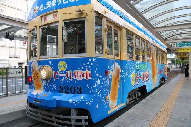 豊橋の夏の風物詩「納涼ビール電車」