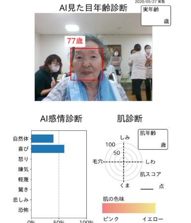 AI顔分析 化粧美容セラピー前