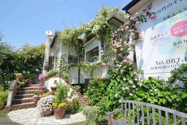 香川県高松市にある初夏には薔薇が咲き誇るお店