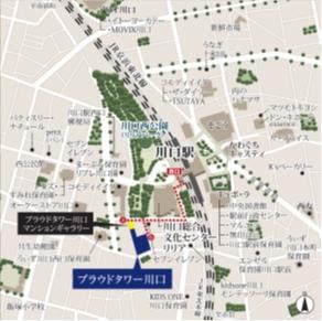 プラウドタワー川口 地図