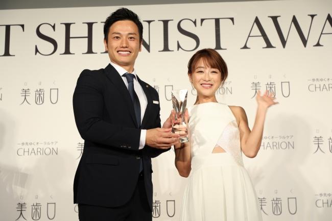 BEST SHINIST AWARD 2018 シャリオン角田社長とタレント・鈴木奈々さん