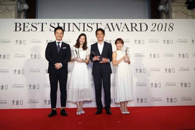 BEST SHINIST AWARD 2018 サッカー元日本代表監督・西野朗さん、女優・足立梨花さん、タレント・鈴木奈々さんが受賞(1)