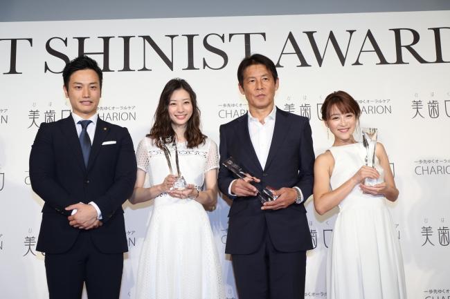 BEST SHINIST AWARD 2018 サッカー元日本代表監督・西野朗さん、女優・足立梨花さん、タレント・鈴木奈々さんが受賞(2)