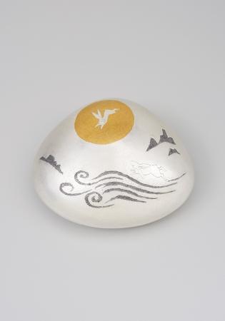 大角幸枝 南鐐蛤盒子「月宮」 9.3×11×高さ4.3cm