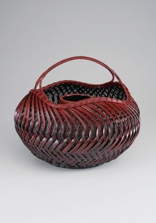 藤沼 昇 束編花籃「福々」 径34×高さ30cm