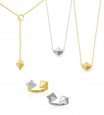 ダイヤモンドの原石をモチーフにした新作。