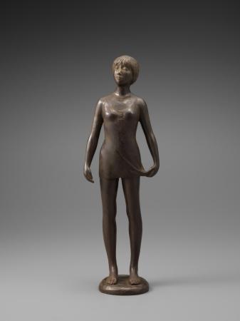 彫刻 雨宮敬子「朝靄」(11×15×高さ45cm)