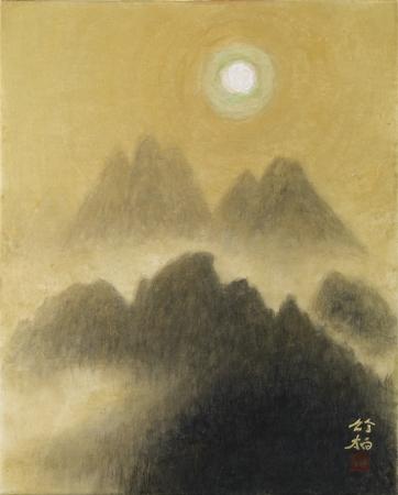 日本画 鈴木竹柏「燦」(3号F)