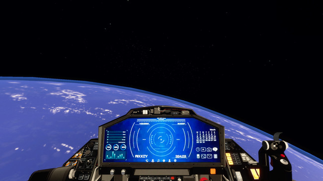 宇宙旅行の仮想体験のイメージ