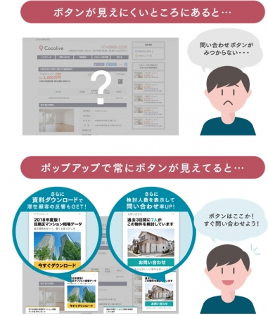 KASIKA「ポップアップ機能」画面イメージ