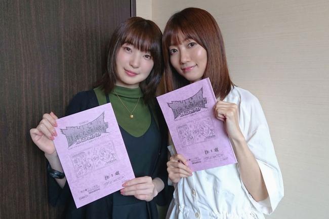 左:上田麗奈さん(マオ) 右:菊地 瞳さん(スイレン)
