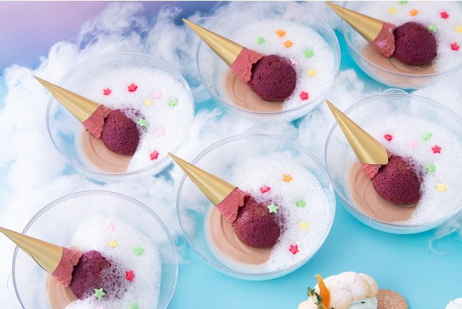 「アイスおとしちゃったの」チョコムースとカシスケーキ