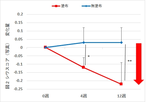 図2 シワスコア(写真)の変化
