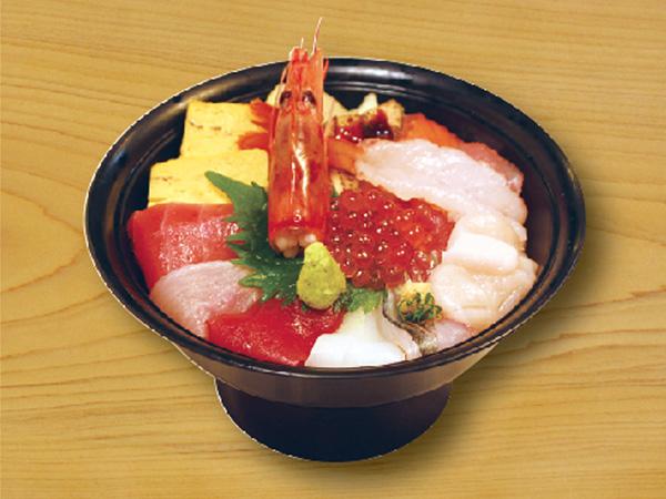 海鮮ちらし丼 1,700円(税別)