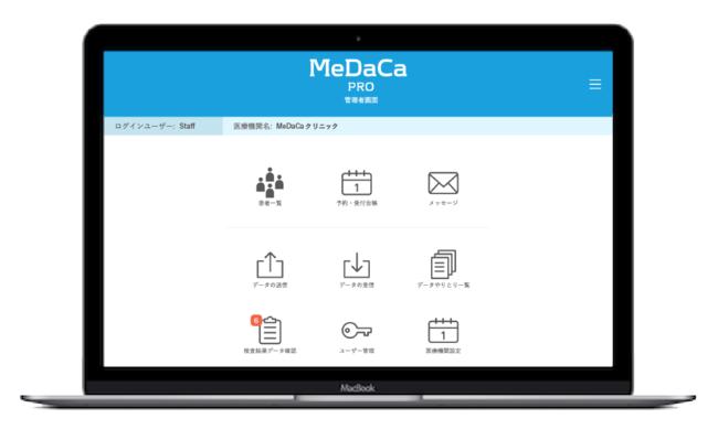 MeDaCa PRO TOP画面イメージ