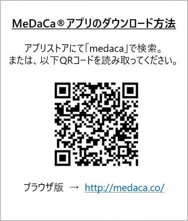 MeDaCa(R)アプリQRコード