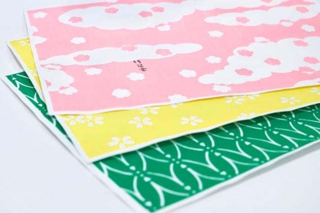 竹笹堂とコラボしたポップアップストア限定パッケージの和紙柄
