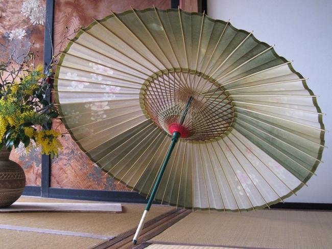 和傘と和のイメージオブジェ