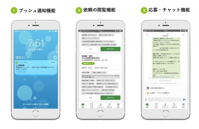 ミツモア登録事業者専用アプリ「ミツモア Pro」の主要3機能
