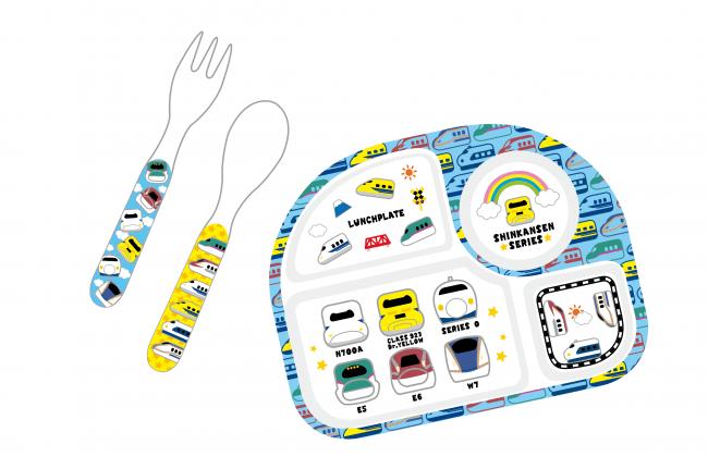 バンブーファイバー新幹線「スプーンフォークセット・ランチプレート」イメージ
