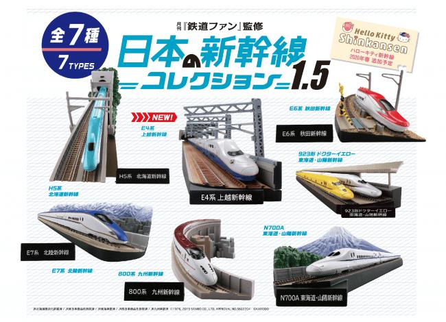 『月刊鉄道ファン監修 日本の新幹線コレクション1.5』イメージ