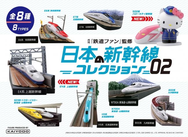 「月刊鉄道ファン監修 日本の新幹線コレクション02」イメージ
