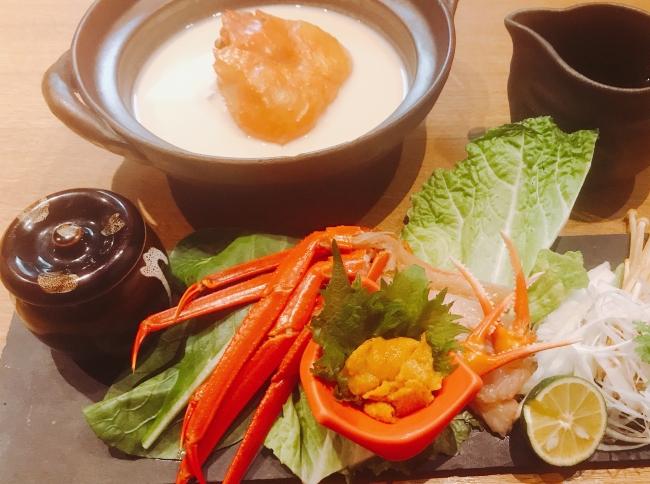 雲丹出汁の蟹しゃぶ(税抜¥500)