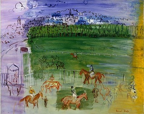 ラウル・デュフィ 《ド-ヴィルの競馬場》 1935-1940年
