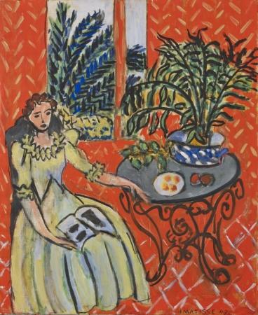 アンリ・マティス 《赤い室内の緑衣の女》 1947年 ひろしま美術館蔵