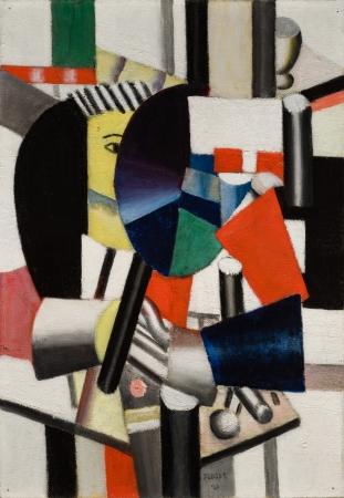 フェルナン・レジェ 《鏡を持つ女性》1920年 油彩/カンヴァス
