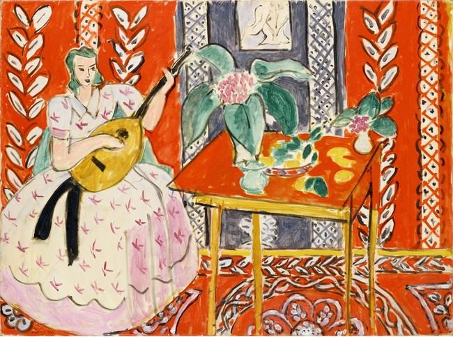アンリ・マティス 《リュート》 1943年 ポーラ美術館