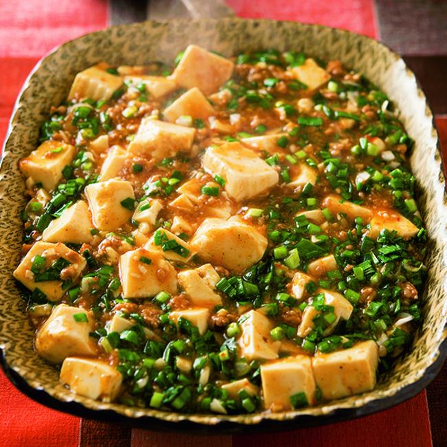 ニラたっぷり麻婆豆腐