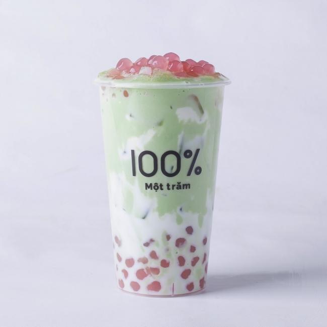【春限定ドリンク】さくら抹茶ミルク 630円