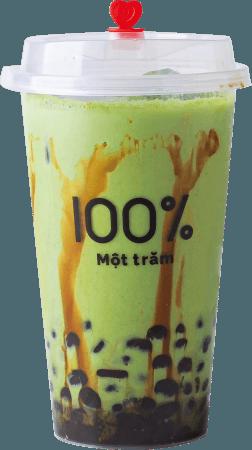 宇治抹茶タピオカミルク 550円