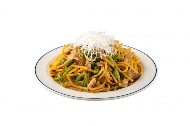 豚肉とタケノコの中華炒めスパゲティ