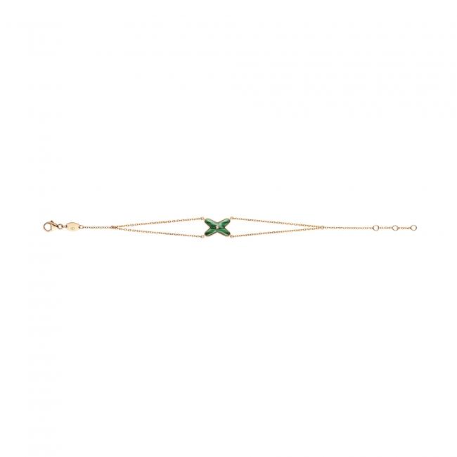 「リアン」コレクション ジュドゥ リアン ブレスレット PG×ダイヤモンド×マラカイト 159,000円(税抜)