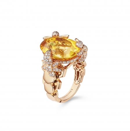 「ビー マイ ラブ」コレクション エクスクイーズ リング  ピンクゴールド ダイヤモンド シトリン 1,830,000円