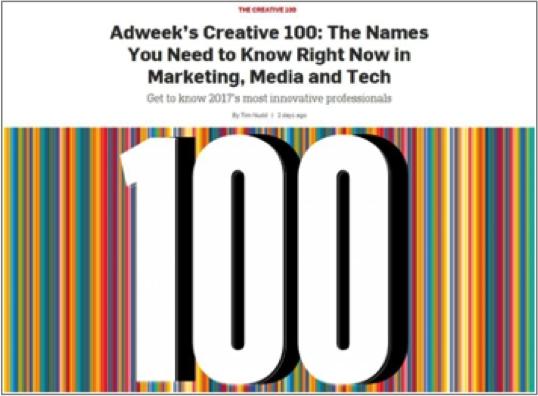 ドリル Chief Creative Officer 細川直哉が米ADWEEK誌発表の『CREATIVE 100』に ...
