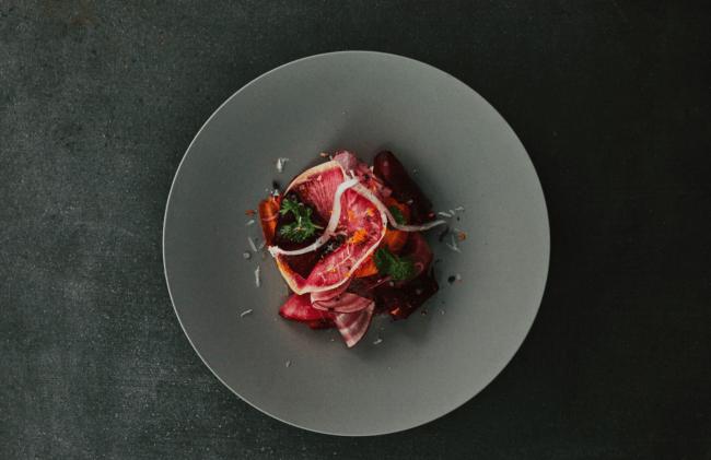 鎌倉野菜とカカオビネガーのサラダ