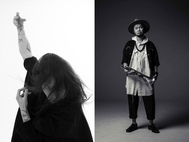 """左:ATSUSHI TAKAHASHI(Dance) 右:タブゾンビ(Tp)(SOIL&""""PIMP""""SESSIONS)"""