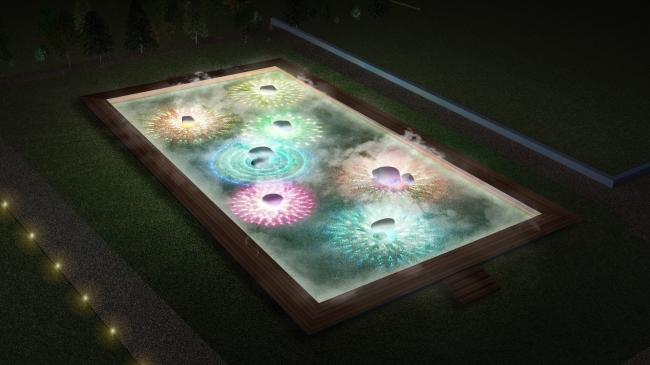 光と霧のデジタルアート庭園 イメージ