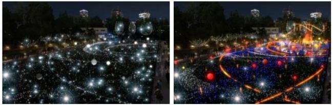 今年初登場の光るバルーンを約100個設置。より華やかにスターライトガーデンを彩ります(イメージ)