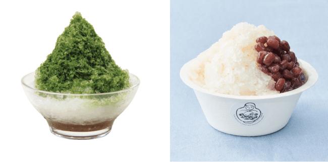 左:「宇治金時」、右「甘酒氷」