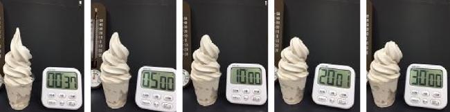 室温25℃での経時変化の様子