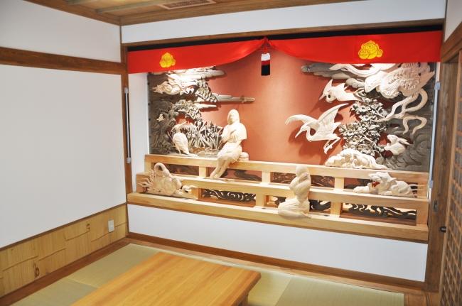 だんじり彫刻の壁面装飾