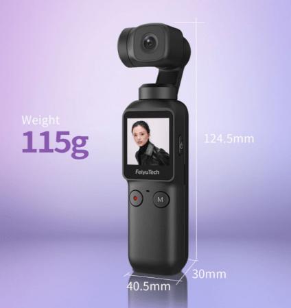 115グラム世界最軽量のジンバルカメラ「feiyu pocket」