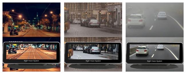 「Lanmodo NVS Vast Pro」の暗視モニターは夜だけでなく、霧や雨にも対応