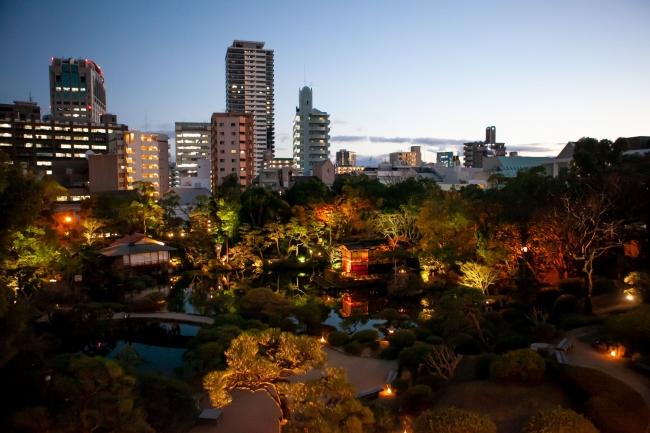 6000坪の庭園が広がる夜景を眺めながらのスペシャル・コラボディナー