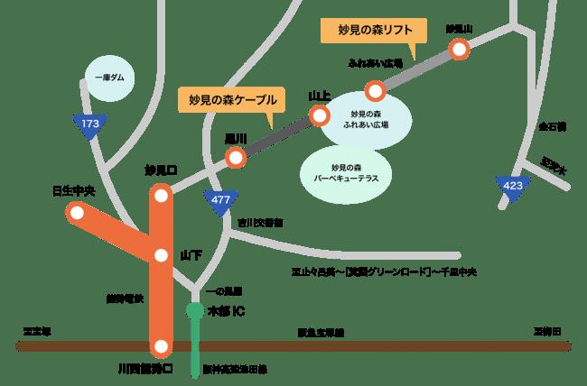 妙見の森MAP